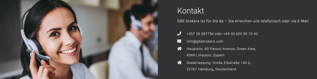 GBE Brokers Kunden Support