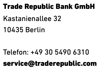 Trade Republic Kundenservice
