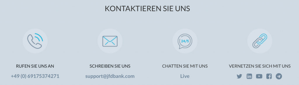 JFD Brokers Kunden Support